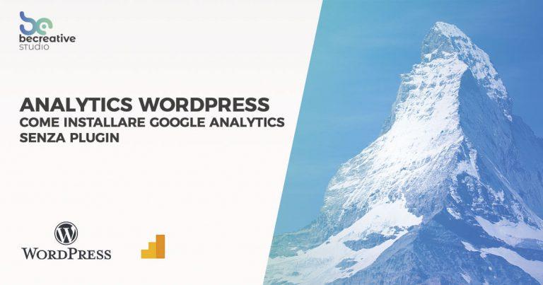 analytics wordpress su wordpress