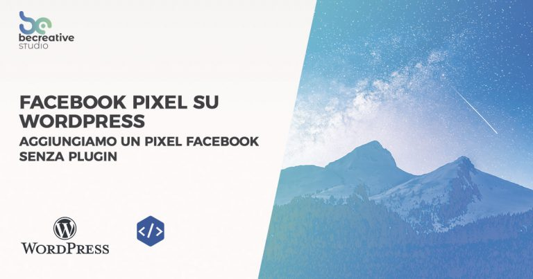 pixel facebook su wordpress senza plugin